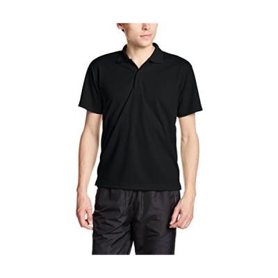 [グリマー] 半袖 4.4オンス ドライ ポロシャツ [UV カット] 00302-ADP ブラック L (日本サイズL相当)