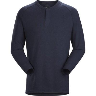 アークテリクス シラス LS ヘンリー シャツ メンズ (20765) / 登山 Tシャツ 長袖 ロングスリーブ トレラン ライフスタイル 通気素材