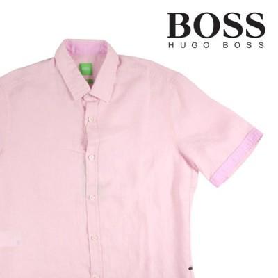 HUGO BOSS(ヒューゴボス) 半袖シャツ 28456 ピンク S 17694 【S17695】