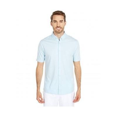 Linksoul リンクソウル メンズ 男性用 ファッション ポロシャツ LS1255 Dry-Tek Oxford Short Sleeve Button-Down Shirt - Blue Sky