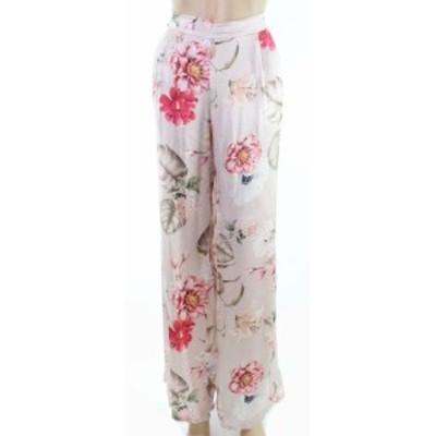 ファッション パンツ Lola NEW Pink Womens Size Medium M Floral Print Satin Dress Pants