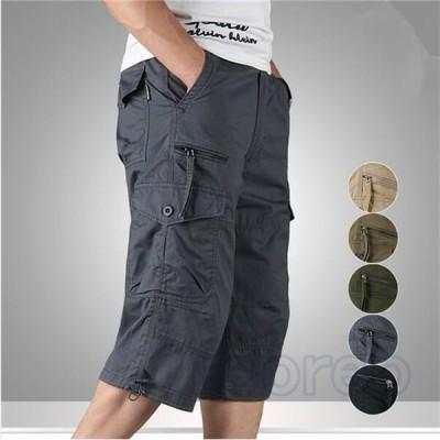 ショートパンツ ハーフパンツ ワークパンツ メンズ 七分丈 夏 カーゴパンツ カジュアル 短パン 快適