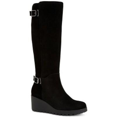 ジャニ ベルニーニ レディース ブーツ&レインブーツ シューズ Sannaa Wedge Boots, Created for Macy's Black Suede