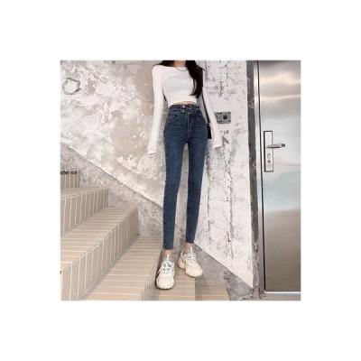 【送料無料】何でも似合う ハイウエスト ストレッチ 女性のジーンズ 初秋 韓国風 ファッション 着や | 364331_A63834-2522516