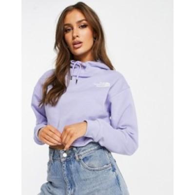 ノースフェイス レディース パーカー・スウェット アウター The North Face Trend Drop cropped hoodie in lilac Sweet lavender