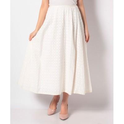 【マリンフランセーズ】 Embroideryフレアスカート レディース オフホワイト 1 LA MARINE FRANCAISE