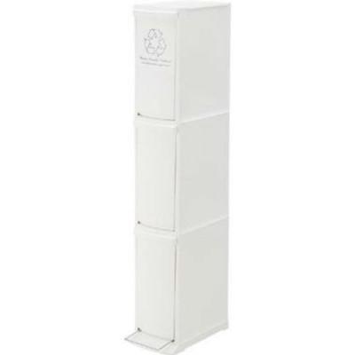 ゴミ箱3D W21cm 奥行37cm 高さ118cm ポリプロピレン  LFS-933WH インテリア 家具 雑貨  送料無料 ヴィヴェンティエ