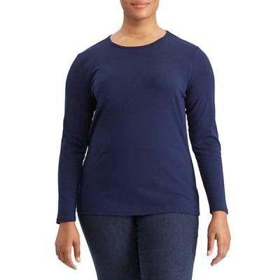 ラルフローレン レディース Tシャツ トップス Plus Size Stretch Long-Sleeve Tee