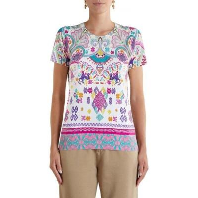エトロ ETRO レディース ニット・セーター トップス Milan Print Stretch Silk Sweater Rosa