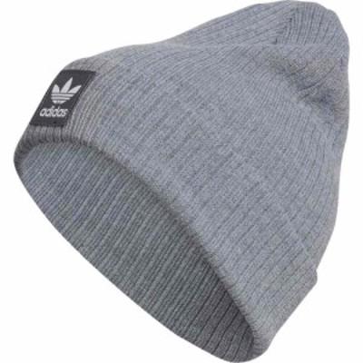 アディダス ADIDAS ORIGINALS メンズ ニット ビーニー 帽子 Logo Rib Beanie Heather Grey
