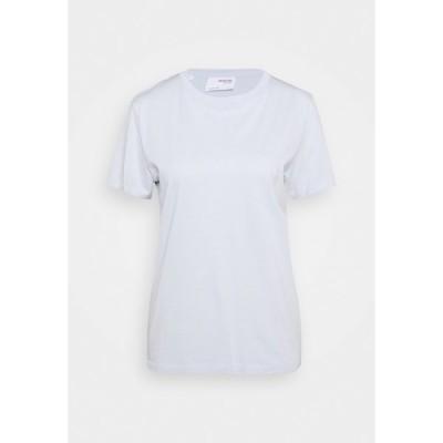 セレクテッドフェム Tシャツ レディース トップス SLFMY PERFECT TEE BOX CUT - Basic T-shirt - arctic ice