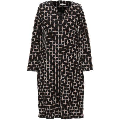 SIYU ミニワンピース&ドレス ブラック 38 ウール 100% ミニワンピース&ドレス
