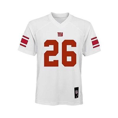 Outerstuff Saquon Barkley ニューヨーク・ジャイアンツ NFL ユース 8-20 ホワイトロード ミッドティアジャージ You