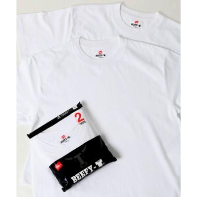 【ラザル】【Lazar】Hanes/へインズ BEEFY−T2P Tシャツ2枚組 カットソー