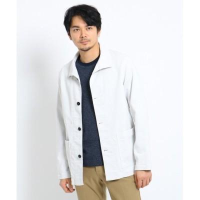 (TAKEO KIKUCHI/タケオキクチ)カバーオールジャケット/メンズ ホワイト(001)