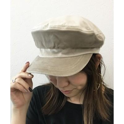 帽子 キャップ ベロアマリン風キャップ