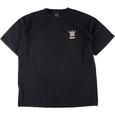 WWE CREW 両面プリント スポーツプリントTシャツ メンズXL /eaa149923