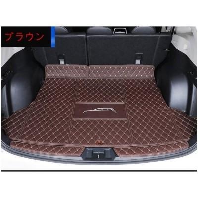 スバル?フォレスター 5代目 SK系 用 車のトランクマット 防水 カーゴマット ラゲッジマット レザートランクトレイ 3P 選べる3色