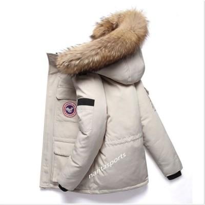 ファッションコート メンズ ダウンコート ダウンジャケット フード付き フード着脱 ファー付き フェイクファー  内ポケット