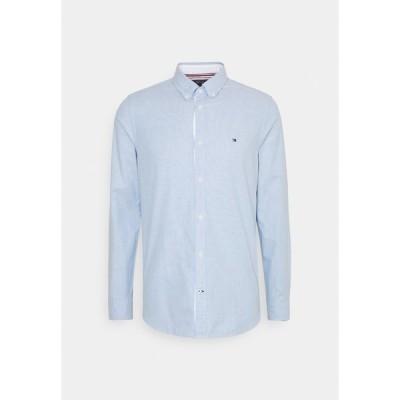 トミー ヒルフィガー シャツ メンズ トップス SLIM FLEX DOBBY - Shirt - copenhagen blue