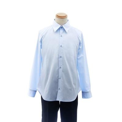 カラーワイシャツ【水色 ブルー 青】【S〜LL】コスプレ 衣装 シャツ 無地 カラーシャツ アパレル 男装