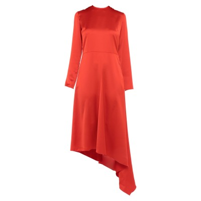 エムエスジーエム MSGM 7分丈ワンピース・ドレス オレンジ 40 ポリエステル 100% 7分丈ワンピース・ドレス