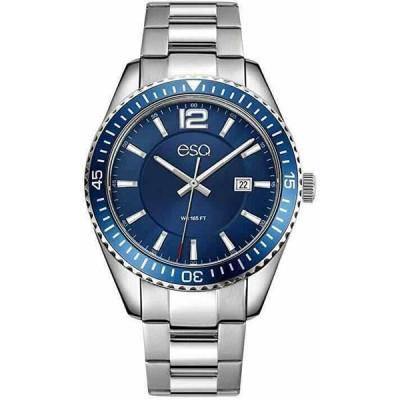 モバード 腕時計 ESQ By Movado Swiss メンズ FE/0160 Silver/Blue Stainless Watch New