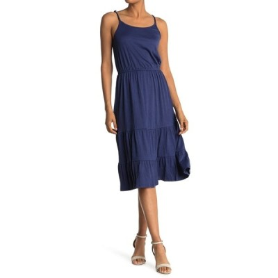 フォーティーンス プレイス レディース ワンピース トップス Tiered Maxi Dress PATRIOT BLUE
