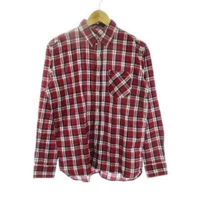 【中古】バンヤードストーム BARNYARDSTORM シャツ 長袖 チェック 1 赤 レッド /CK メンズ