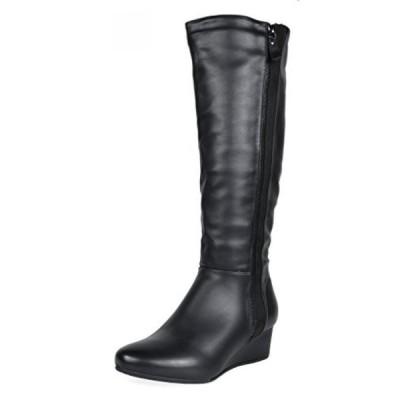 ドリームペア レディース ブーツ DREAM PAIRS Women's Low Wedege Fashion Boots