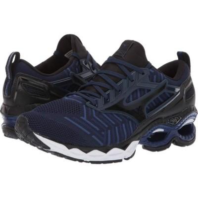 ミズノ Mizuno メンズ ランニング・ウォーキング シューズ・靴 Wave Creation C1 Knit Dress Blue/Black