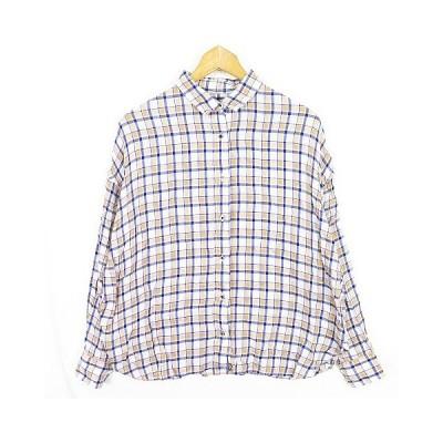 【中古】フレームワーク Framework ワイドシャツ テンセル チェック sa9625 レディース 【ベクトル 古着】