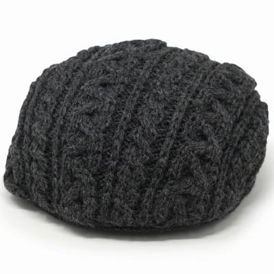 ブリティッシュ ウール メンズ 防寒 折りたたみ可 ハンチング ベレー帽 レディース 耳あて付 秋冬 帽子 送料無料 グレー チャコール