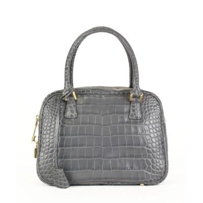 VITA ROSA / Falchi New York/ファルチニューヨーク イタリアンカーフクロコダイル型押し多機能スクエアボストンバッグ WOMEN バッグ > ハンドバッグ