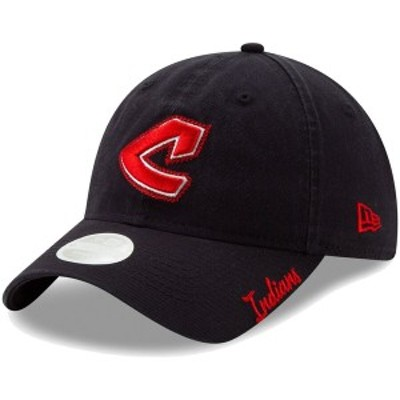 ニューエラ レディース 帽子 アクセサリー Cleveland Indians New Era Women's Cooperstown Collection Chainstitch 9TWENTY Adjustable