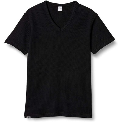 [エドウィン] Tシャツ ワッフル Vネック 半袖Tシャツ メンズ ET6020 ブラック S