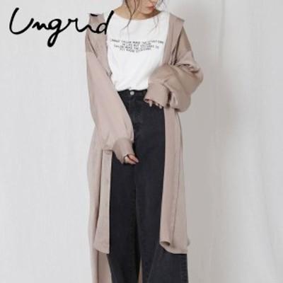 【ポイント5倍】Ungrid アングリッド サテンルーズロングシャツ 112010406401【2020】【SS】【2020春夏】【入荷】