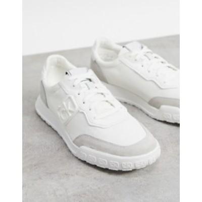 カルバンクライン メンズ スニーカー シューズ Calvin Klein parker runner sneakers in white White
