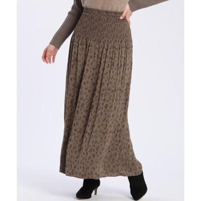 INED / レオパードリバーシブルスカート