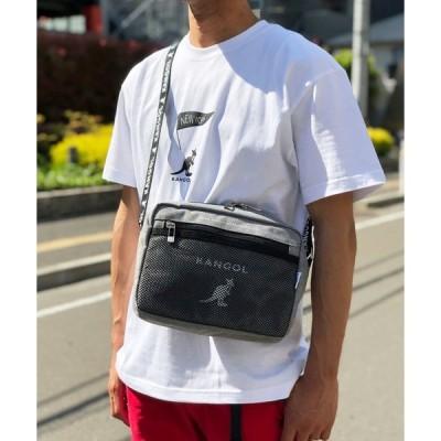 ショルダーバッグ バッグ 【 KANGOL / カンゴール 】 縦型 メッシュポケット ショルダーバッグ サコッシュ