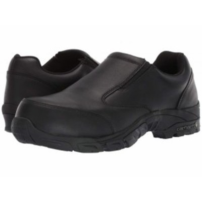 Carhartt カーハート メンズ 男性用 シューズ 靴 スニーカー 運動靴 Carbon Nano Comp Toe Slip-On Work Shoe Black Oil【送料無料】