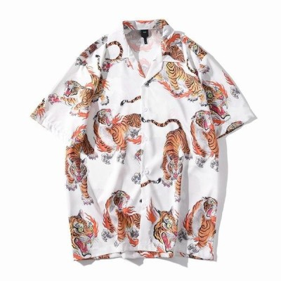 Hawaiian Mens Beach shirts Summer Men's shirts Streetwear Casual Short Sleeve Loose Blouse Tops camisa