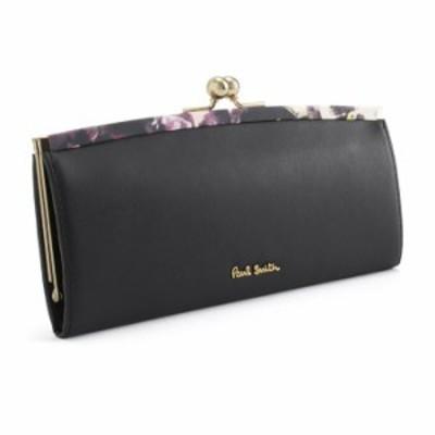 展示品箱なし ポールスミス 財布 長財布 がま口財布 ブラック Paul Smith pwa365-10 レディース 婦人