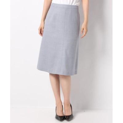 LAPINE BLANCHE/ラピーヌ ブランシュ ウールラグゼボタニースカート ブルー 40