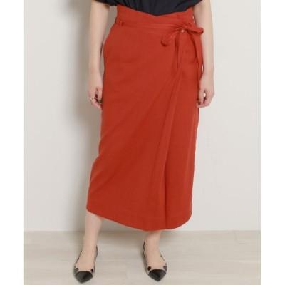 【ミューカ/MJUKA.】 リネンラップスカート