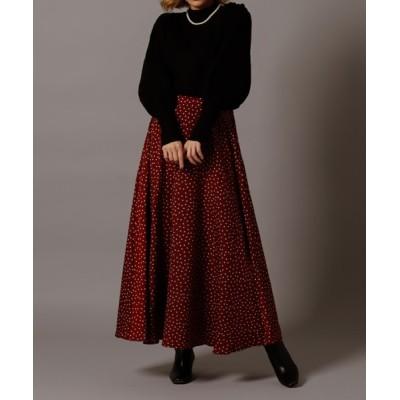 スカート dot flare skirt