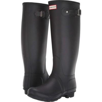 ハンター Hunter レディース レインシューズ・長靴 ワイドパンツ シューズ・靴 Original Tall Wide Leg Rain Boots Black