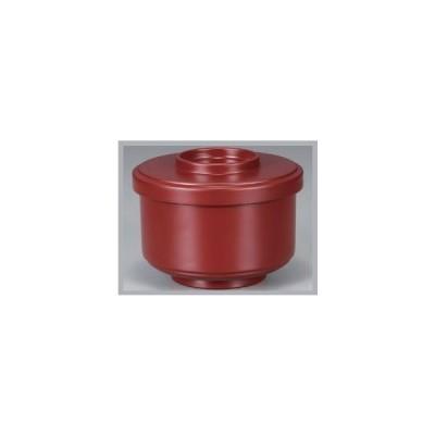 飯椀 ミニ柾無地割子 吟朱内黒 耐熱ABS樹脂 食器洗浄機対応 f6-282-4