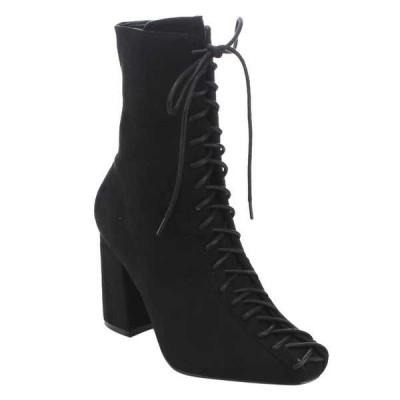 ブーツ シューズ 靴 ケープロビン CAPE ROBBIN レディース Lace-Up サイズ ジッパー Block ヒール アンクルブーティー ブラック オリーブ RUST BLACK