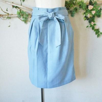 美品 ミッシュマッシュ MISCH MASCH サッシュ リボン 付き 春夏 向き スカート 日本製 S